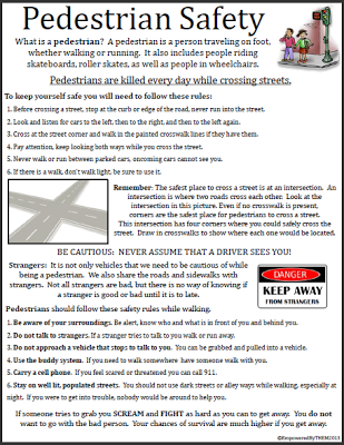 Free life skills worksheet  Pedestrian Safety | Special