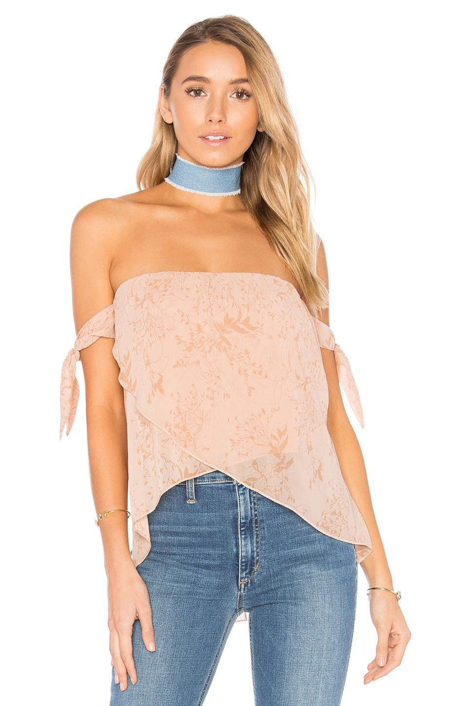 c674e241308 THE JETSET DIARIES Sierra Top in Nude Floral | My online closet ...