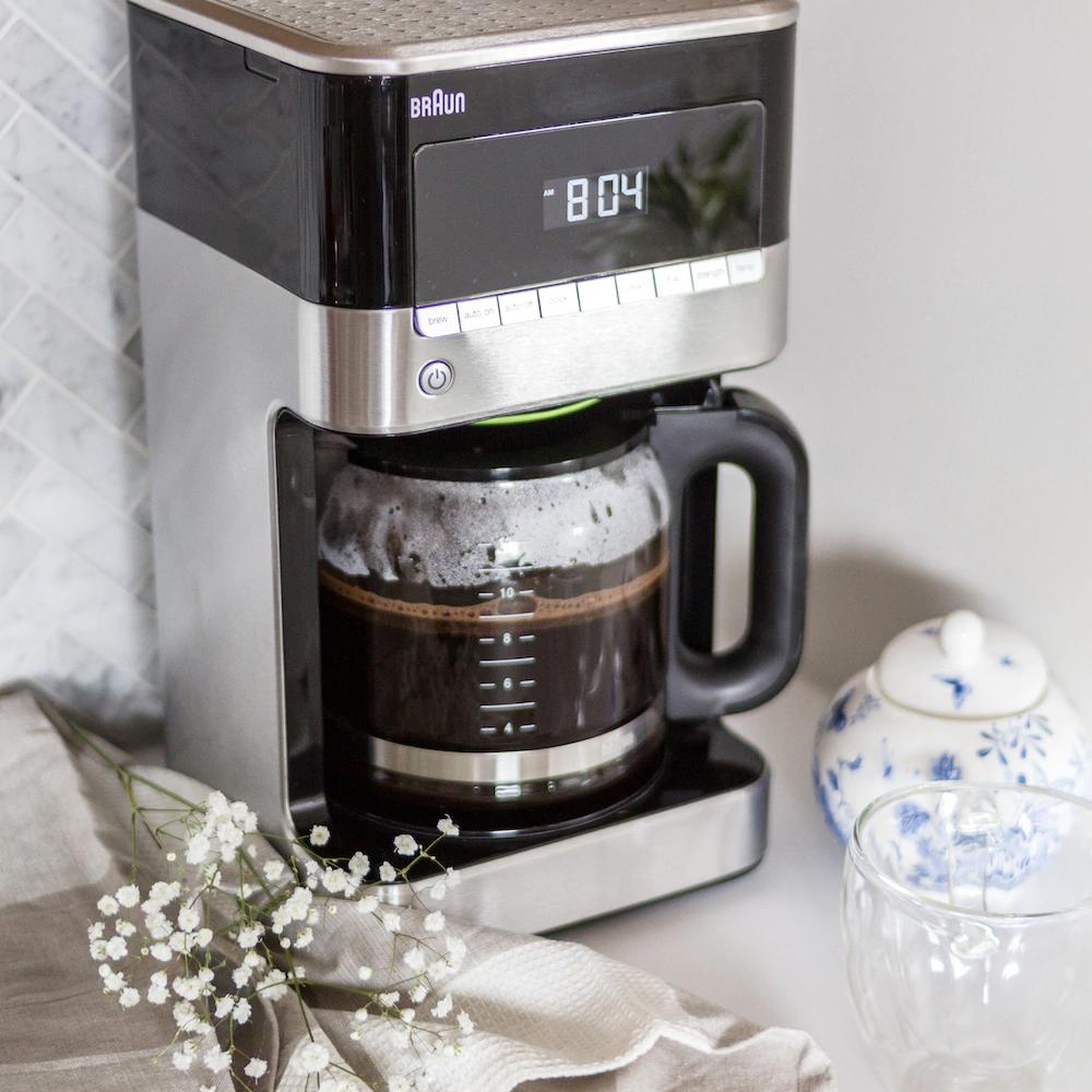 Braun Coffee Machine In Stainless Steel Black Coffee Machine Coffee Stainless [ 1000 x 1000 Pixel ]