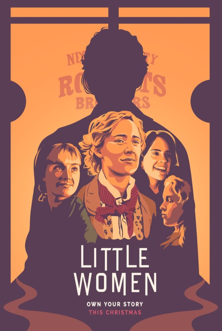 Fan Art Little Women Movie Posters Minimalist Aesthetic Movies Vintage Movie Theater