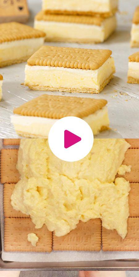 Keks-Sandwiches mit Vanillepudding | LECKER