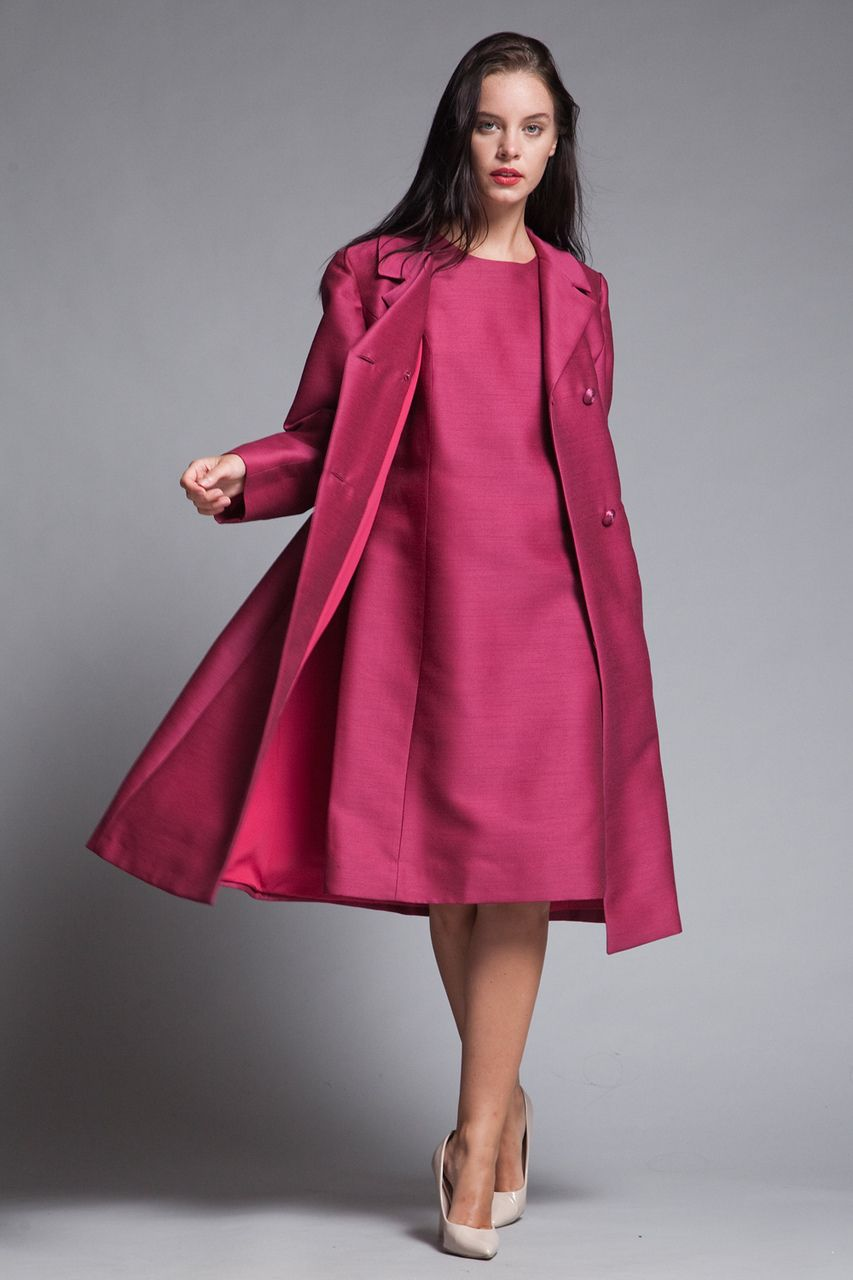 Matching Coat Shift Dress Set Ruby Pink Double Breasted Vintage 60s Large L Set Dress Vintage Clothes Shop Shift Dress [ 1280 x 853 Pixel ]
