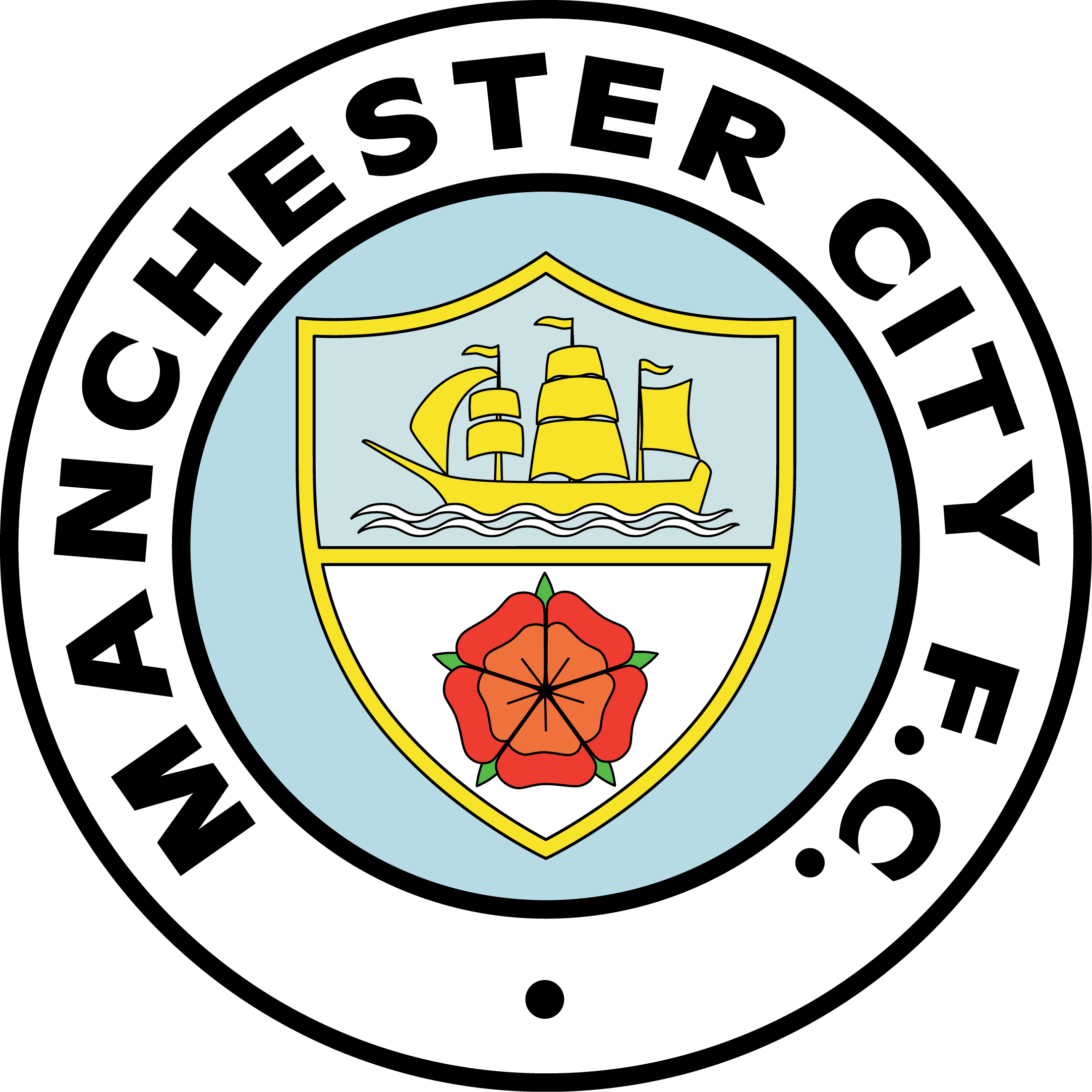 Manchester City Man City Badge Manchester City Football Club Manchester City
