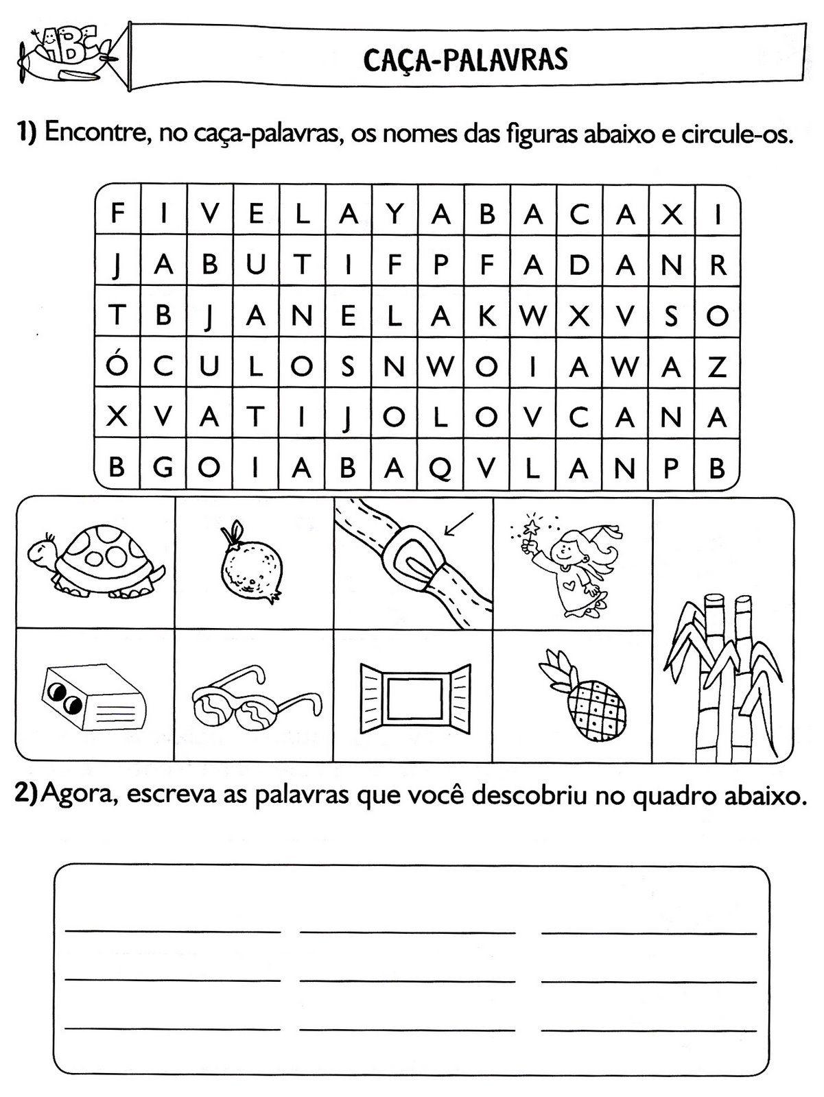 Portugues Atividades Diversas Para O 1º E 2º Anos Com Imagens