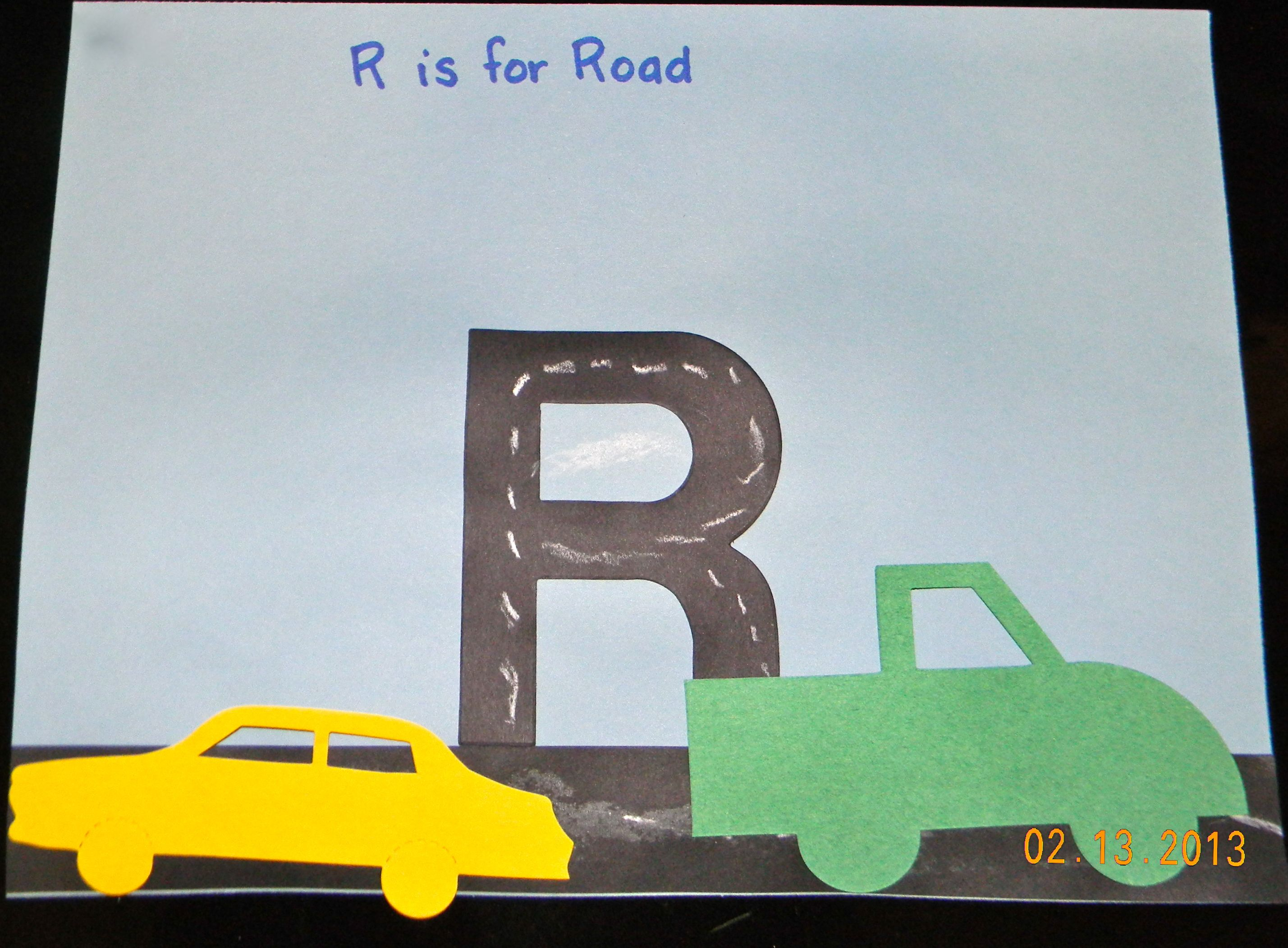 Drawing Lines In R : Letter r craft kids liked using the chalk to draw street