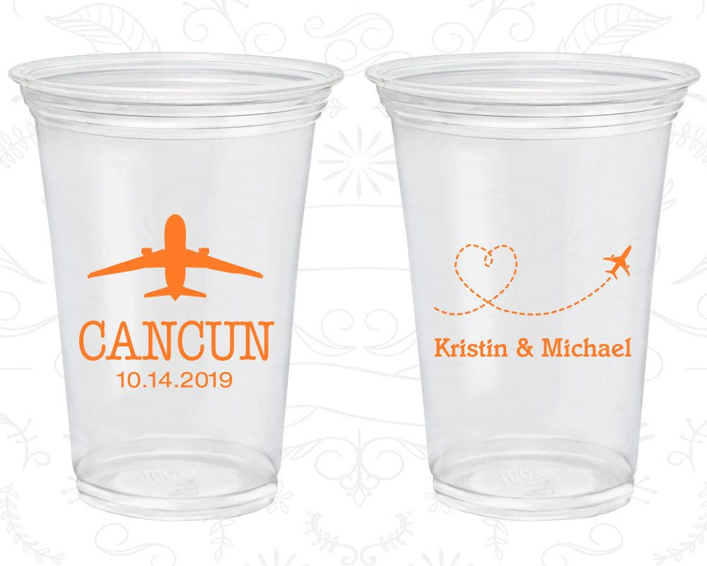 Personalized Plastic Drinking Gles Arts