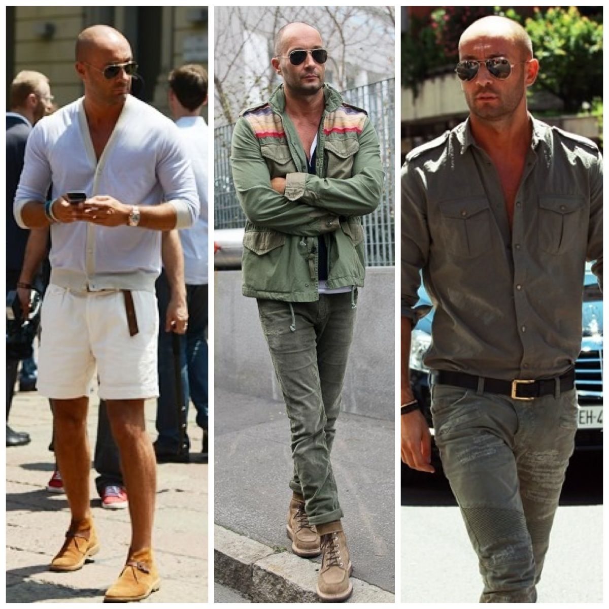 Milan Vukmirovic Bald Men Style Mens Fashion Fall Casual 50s Style Men