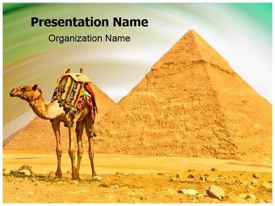 pyramids camel powerpoint template is one of the best powerpoint, Modern powerpoint