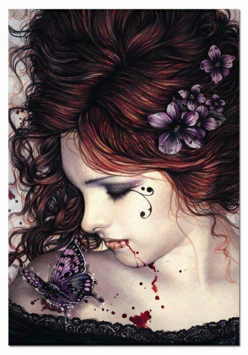Victoria Frances Vampire Art