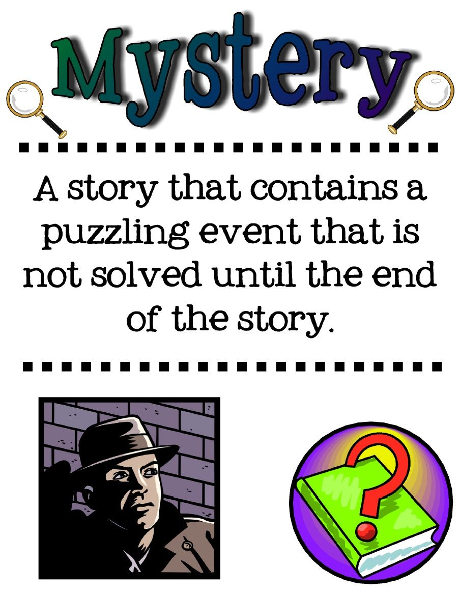 Scribd Vocabulary posters, Mystery genre, Mystery writing