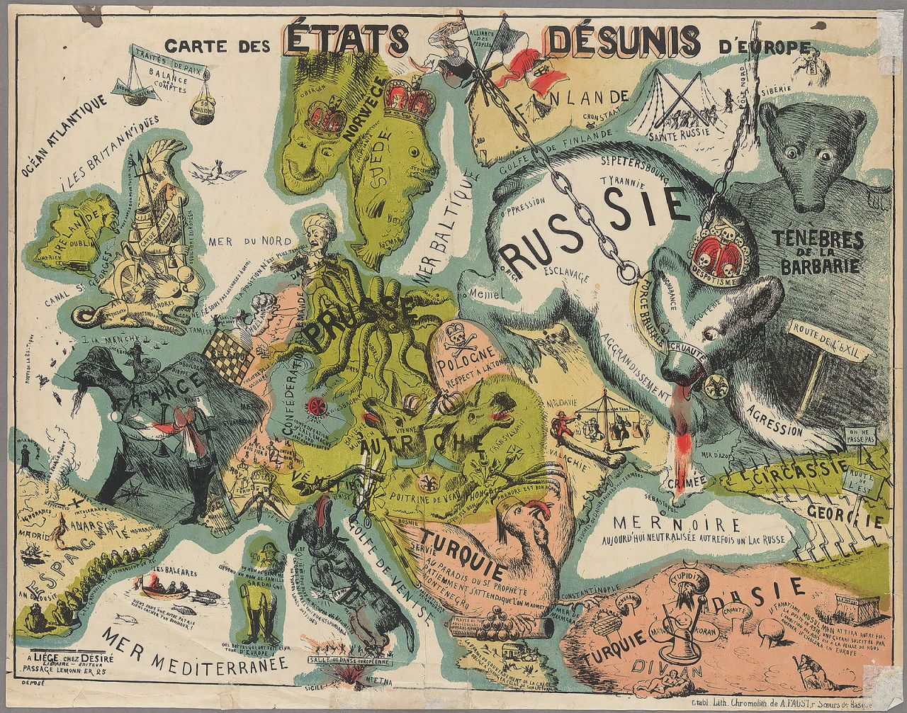 Map of the Disunited States of Europe