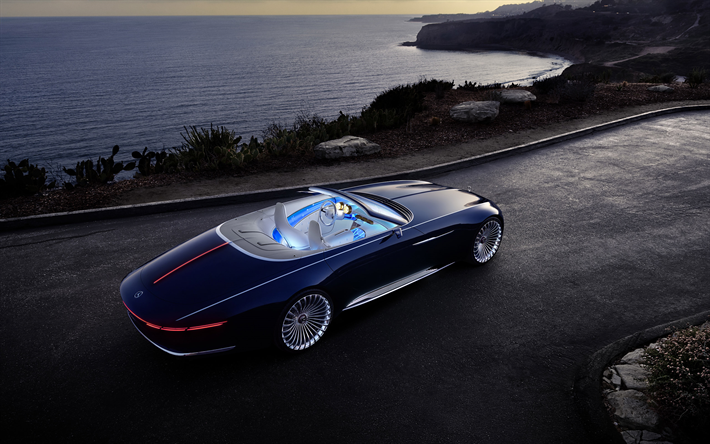 Mercedes Maybach 6 Cabriolet Top Luxury Car: Download Wallpapers Mercedes-Benz Vision Maybach 6