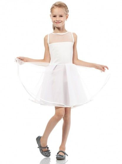 f90377d71aad Dječja haljina bez rukava KIDIN - ecru Kids Fashion