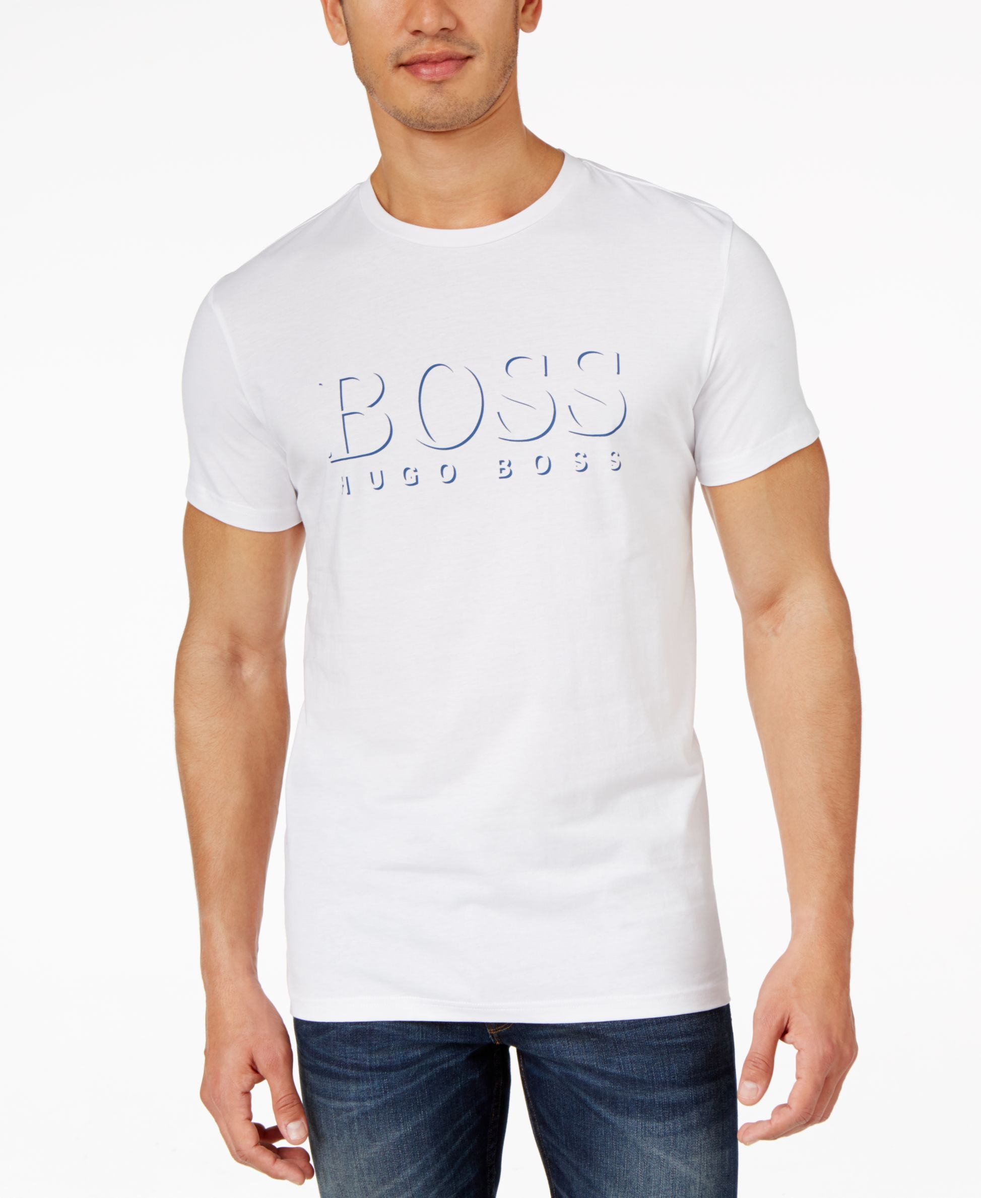 Boss Hugo Boss Embossed-Look Logo-Graphic T-Shirt  71da60680c0