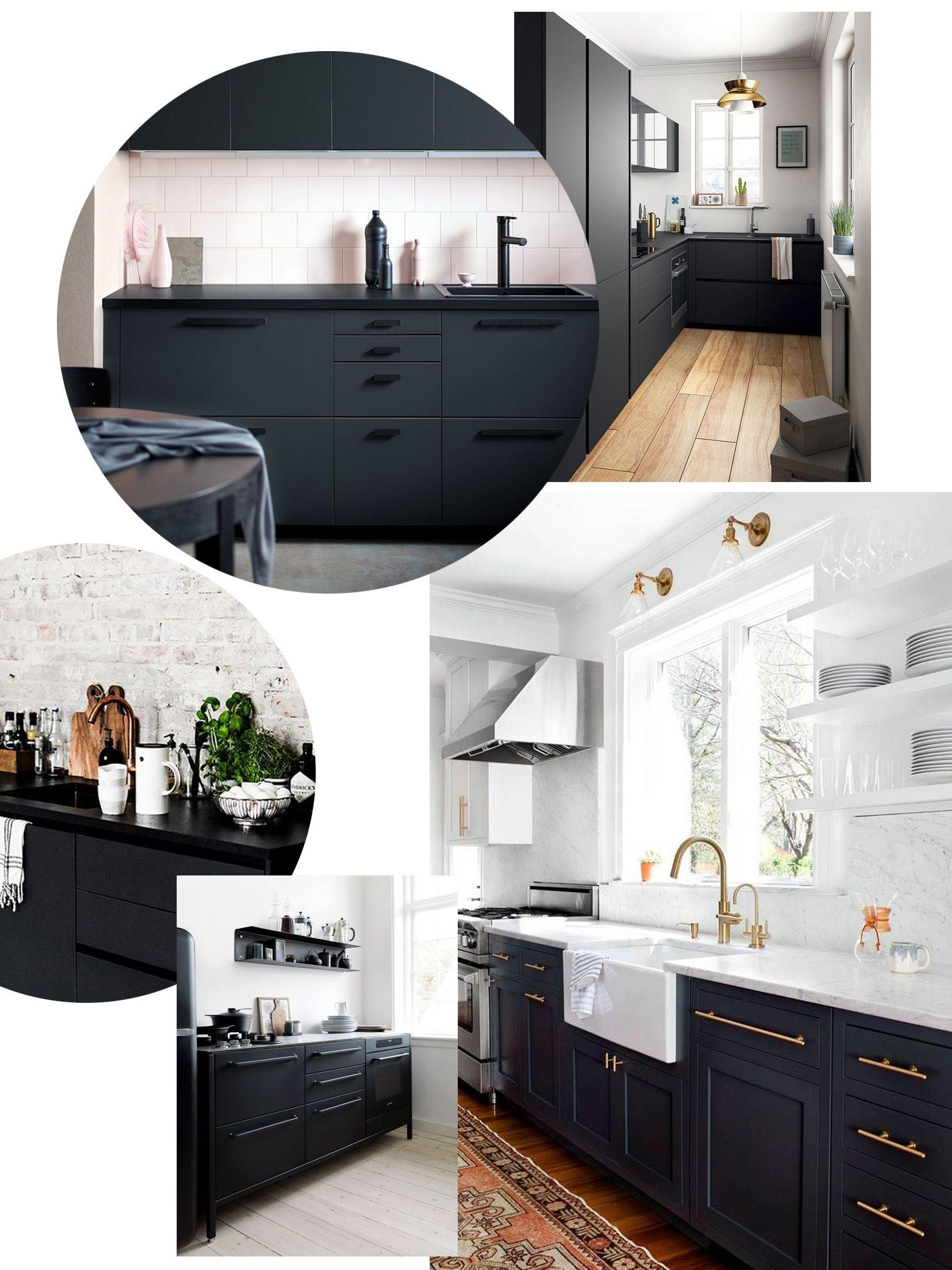 Black Kitchens Inspiration Scandinavian Style Dark