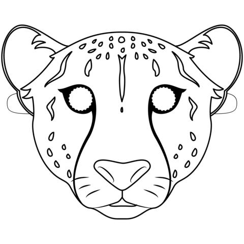 Cheetah Mask Ausmalbild Malvorlagen Kostenlose Ausmalbilder Ausmalbilder