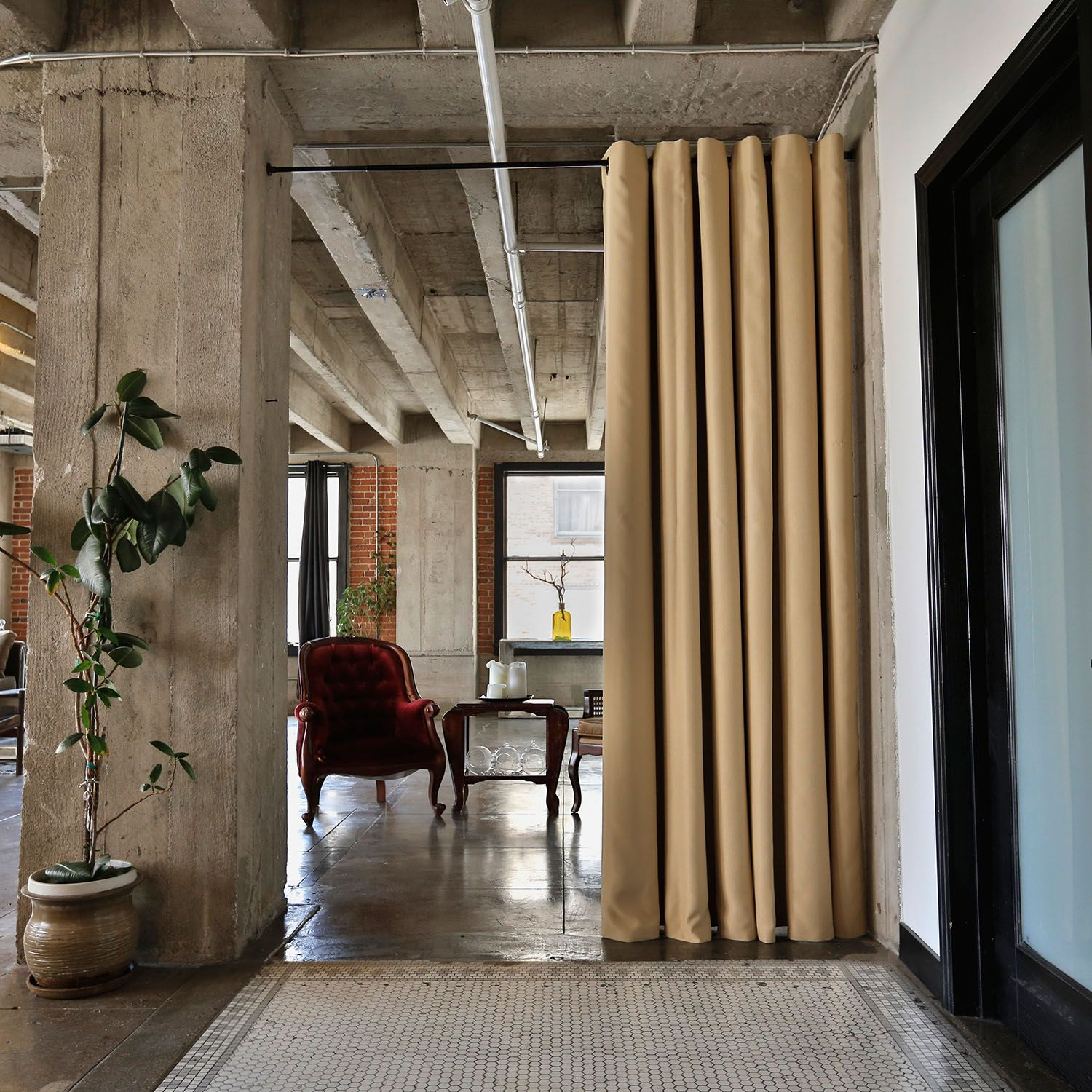Tension Rod Room Divider Kits Pinterest Divider Spaces and Room