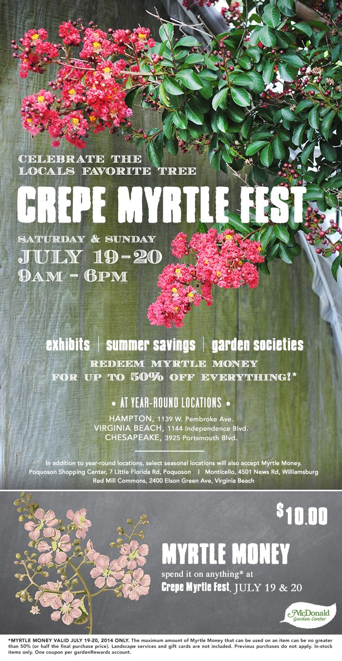 Our Biggest Savings Event 32nd Annual Crepe Myrtle Fest