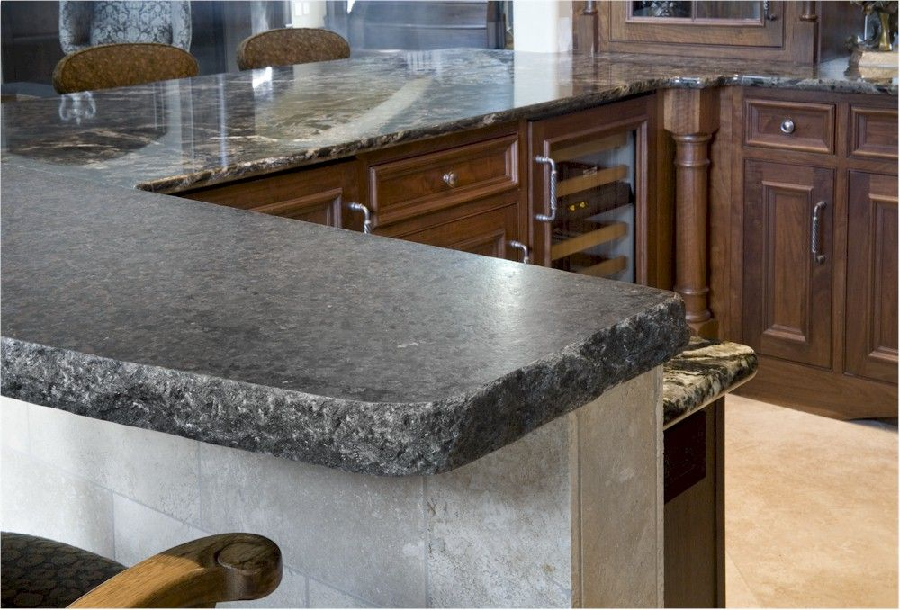 granite counter tolp with chiseled edge - Granite Counter