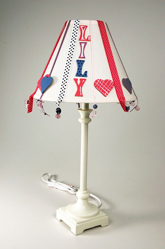 Personalize your child's lamp with help from Loew Cornell.