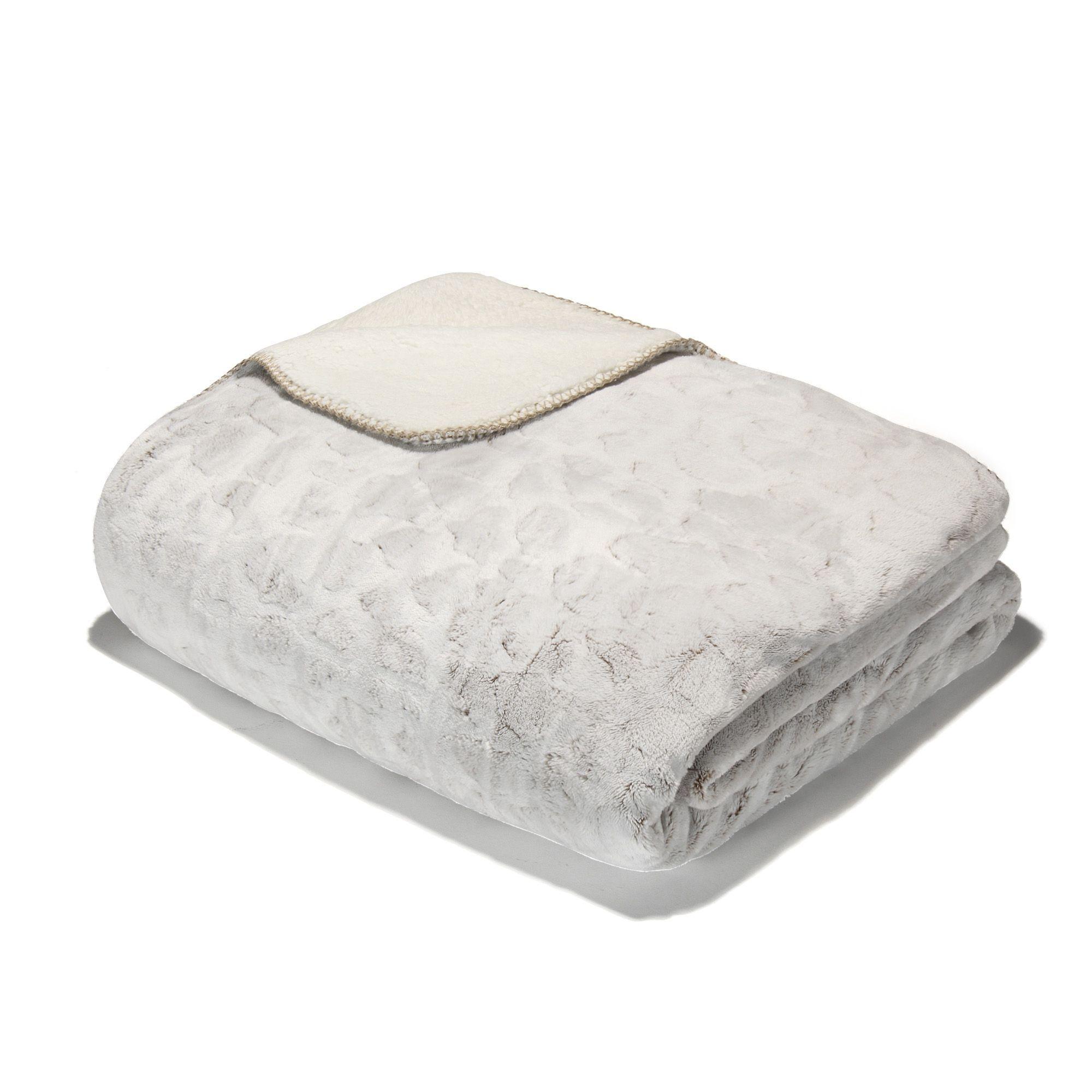 couvre lit plaid 180x230cm marron sofy les couvre lits et jets - Couvre Lit Alinea