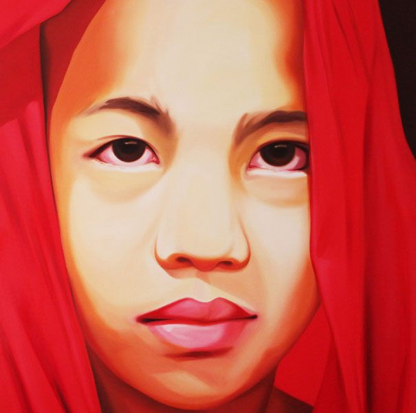 Dolna code: UMT004 Monk-1 by Umakant Tawde. Oil on canvas, 48 x 48(inches), Price INR 2,50,000