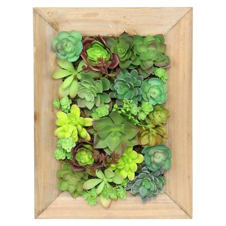 Threshold™ Mixed Succulent in Large Wooden Frame : Target | Walls ...