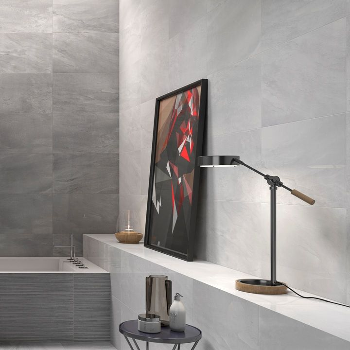 These Lovely Glossy Light Grey Floor Tiles Are Perfect For Co - Fred's floor tile
