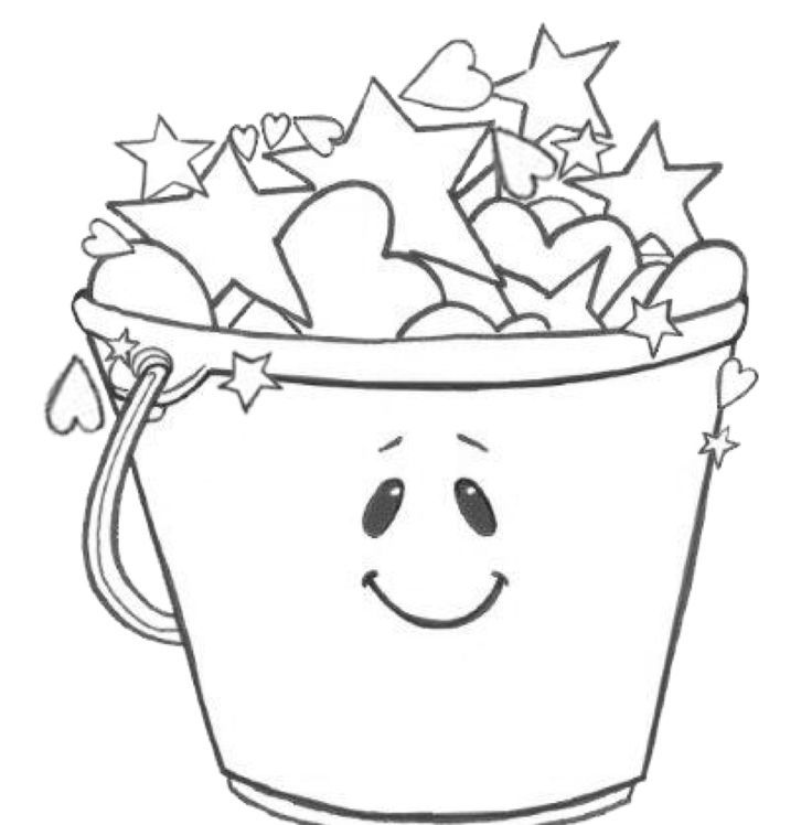 Grade onederful coloring page bucket filling for Bucket filler coloring page