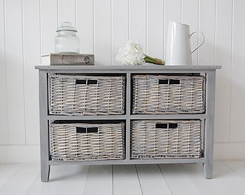 Low St Ives Storage Furnitrue With Baskets Grey Bedroom Furniturehall