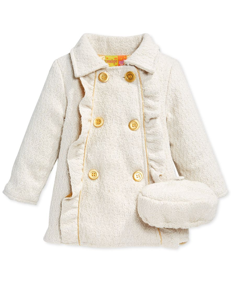 Penelope Mack Little Girls' Ruffle Trim Coat