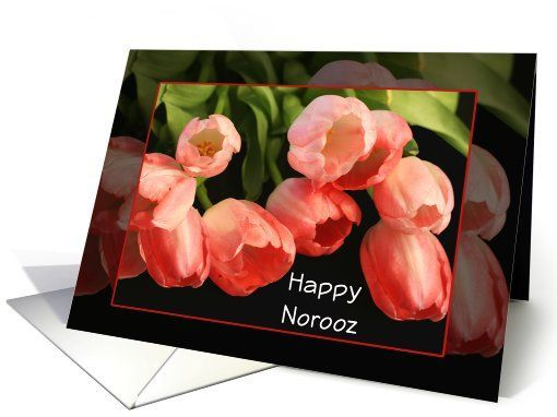 Happy norooz persian new year greeting card tulips flowers card by happy norooz persian new year greeting card tulips flowers card by sheryl m4hsunfo Image collections