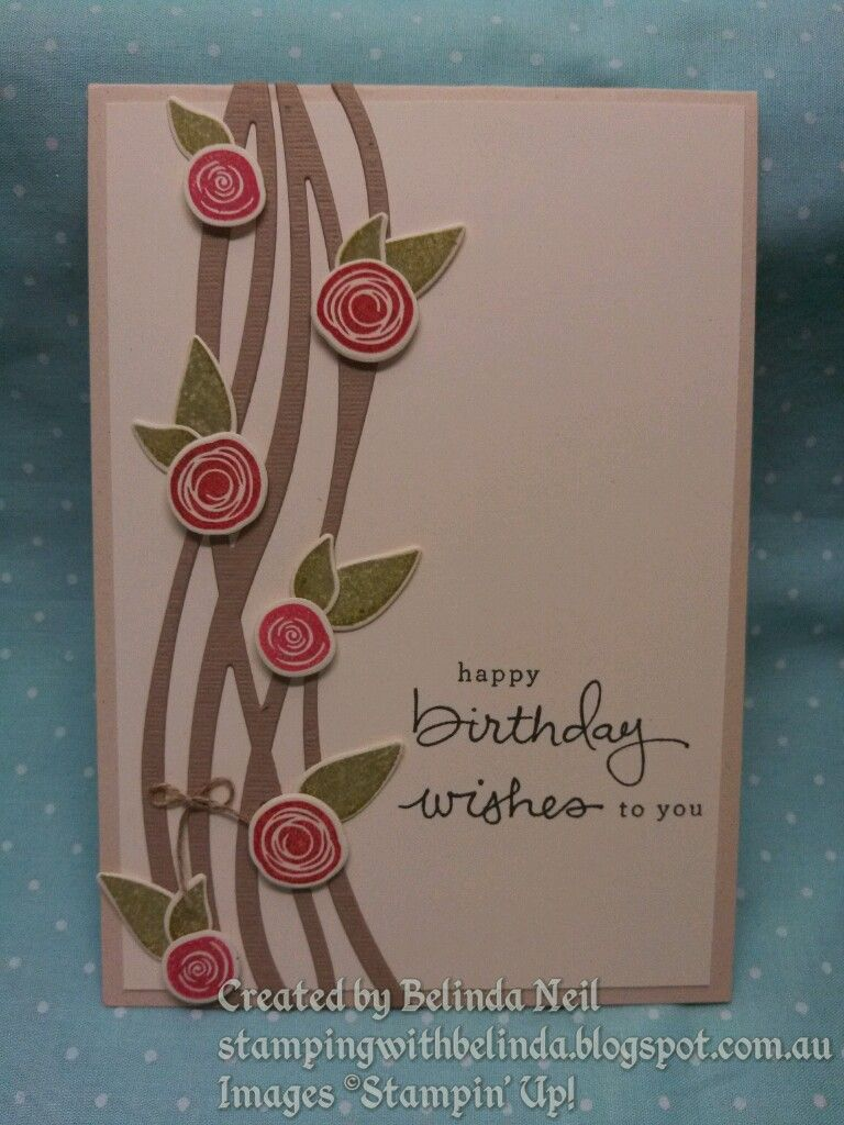 Stampin' Up! Swirly Bird & Swirly Scribbles - Cased from Ilina Crouse