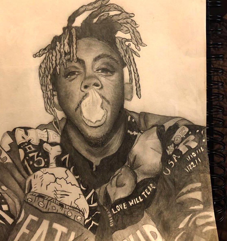 juice wrld drawing in 2020 Drawings, Deer tattoo designs