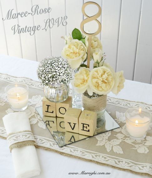 Why Not Make Your Own Vintage Rustic Table Centerpieces The Country Wedding