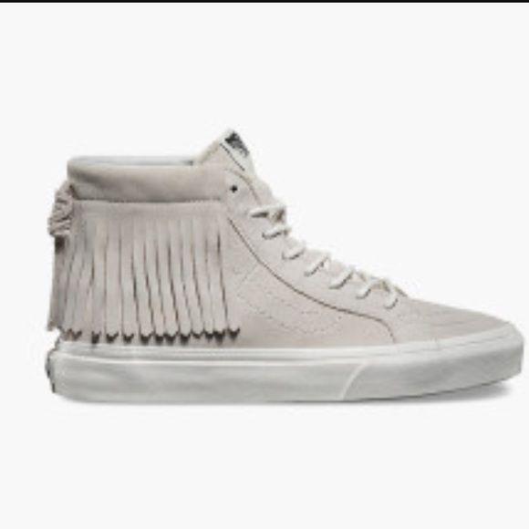 80de13a9a331b5 Fringe hightop vans NBW Woman s size 9 Vans Shoes Sneakers ...