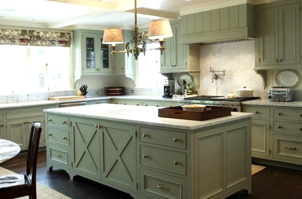 dark floors and white marble countertops with green kitchen for the home in 2019 country on kitchen ideas with dark cabinets id=22618