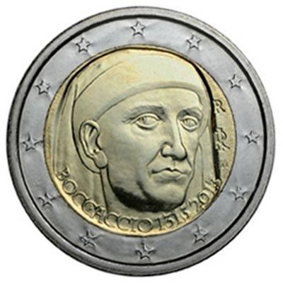 Moneda Conmemorativa 2 Euros Italia 2013 Boccaccio Tienda