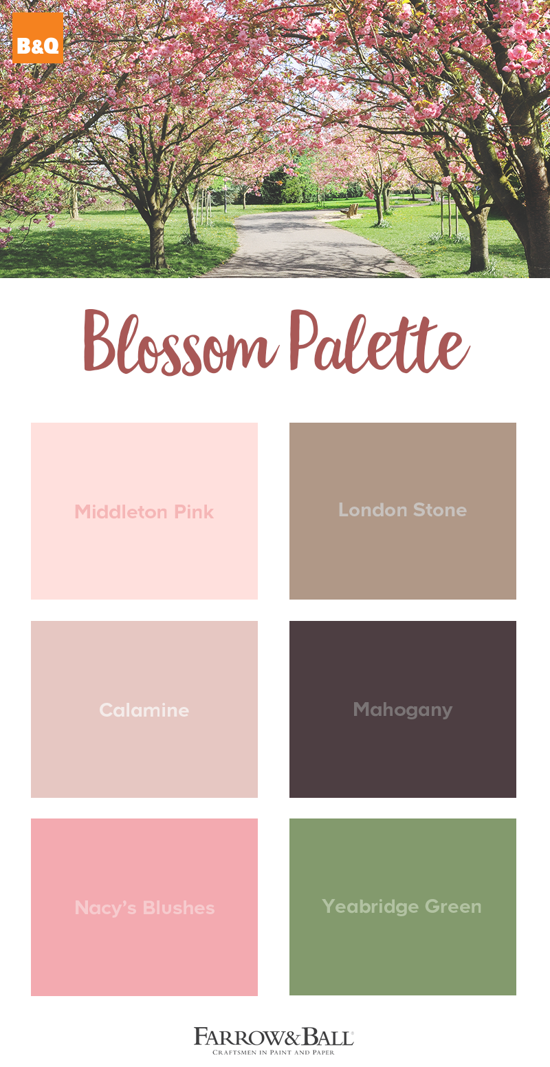 Take Inspiration From The Cherry Blossom Trees Fresh Pinks Grounded Browns And Bright Greens Cherry Blossom Bedroom Green Decor Farrow And Ball Paint