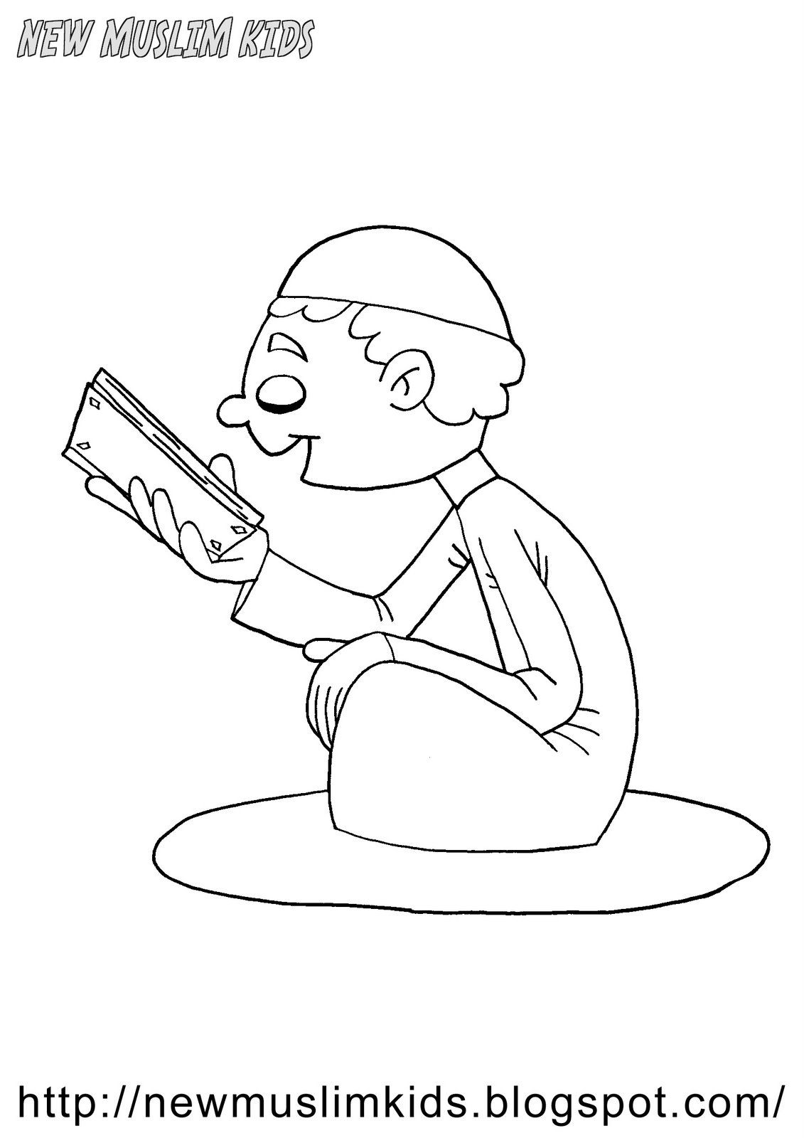 Reading Quran Coloring Page | Ramadan Activities | Pinterest | Quran ...