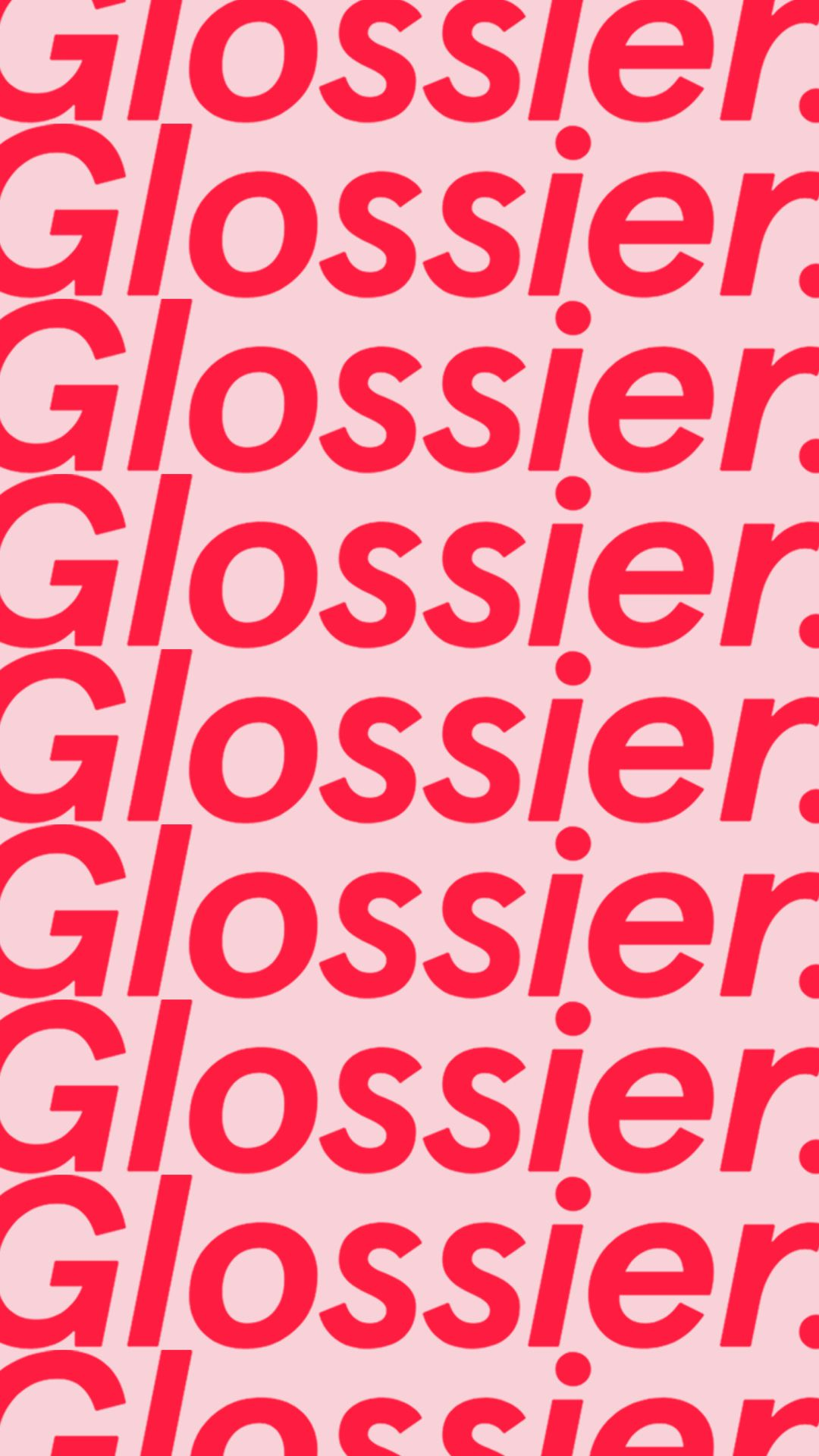 Glossier. / Phone Wallpaper / Design / Red and Pink | Art ...