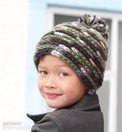 Spiral Hat Free Pattern From Bernat Yarnspirations Worked In