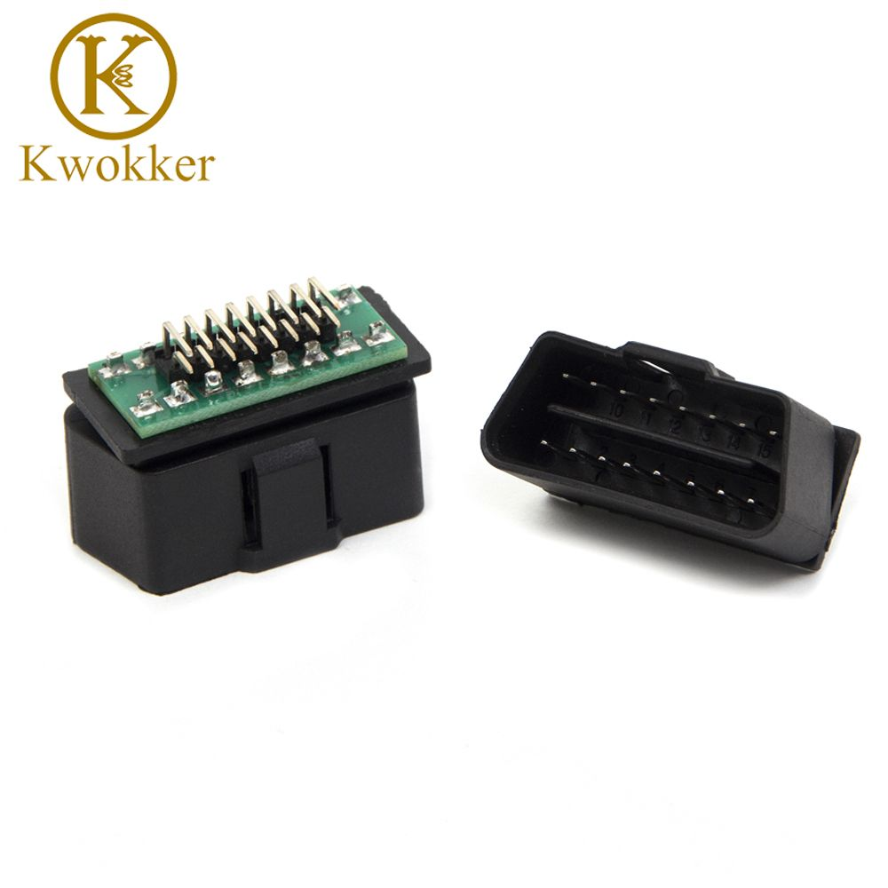 Kwokker Obd2 Obdii Male Connector Plug Wiring For Diagnostic Tool 16 Pin Diy Conuerted Shell