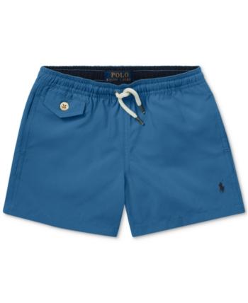 ddf42b1df0f62 Polo Ralph Lauren Toddler Boys Traveler Twill Swim Trunks - Retreat Blue 3T