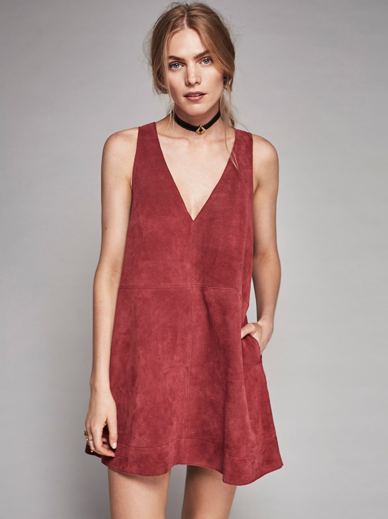 8aeb2f44f2 Retro Love Suede Dress from Free People!