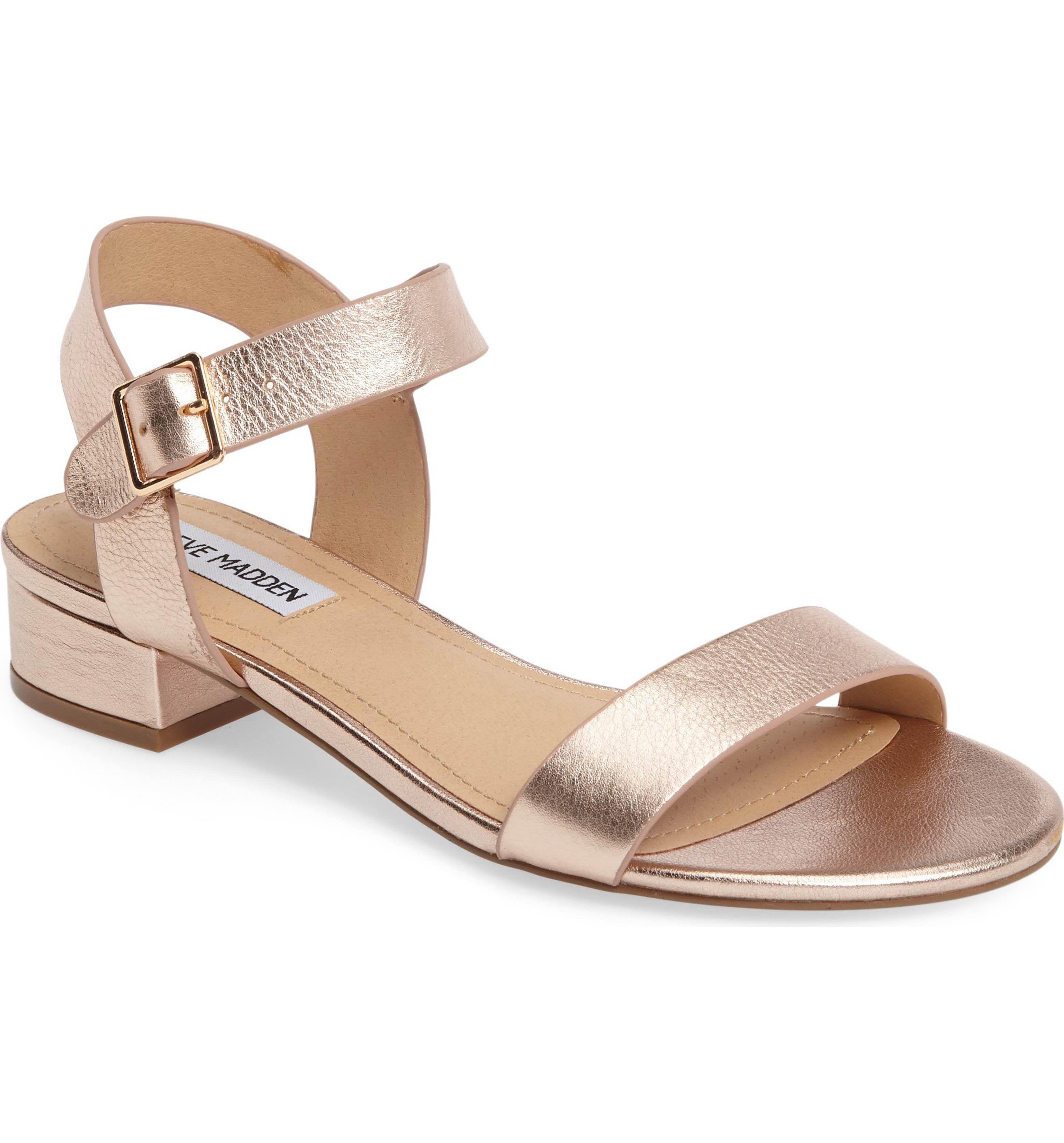 latitud Picotear Presentar  Steve Madden Cache Sandal (Women)   Nordstrom   Rose gold sandals, Gold  leather sandals, Nordstrom heels