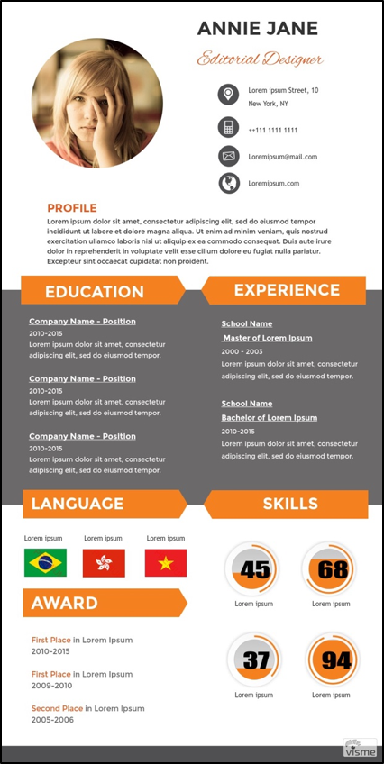Infographic Resume 5 Free Diy Infographic Resume Sites  The Muse  Fabulous