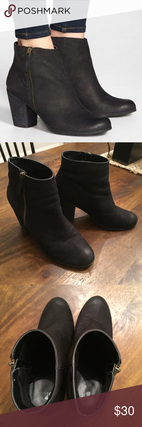 Nordstrom Trolley Bootie in Black Literally the best bootie! These have some wear, but really good used condition. Only small blemishes are on heel and pictured. Nordstrom Shoes Ankle Boots & Booties