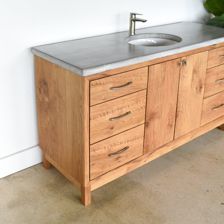 60 Modern Reclaimed Wood Vanity Single Sink What We Make Reclaimed Wood Vanity Custom Bathroom Vanity Wood Bathroom Vanity