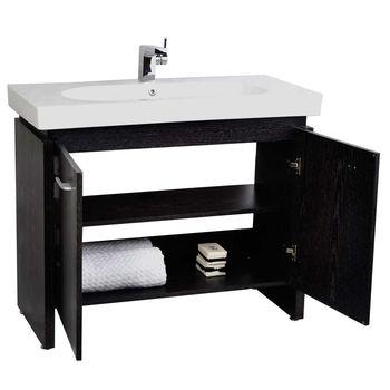 40 Black Oak Single Bathroom Vanity Emperia Vm V12041 Bok 40
